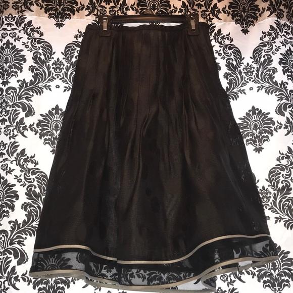 Korea Dresses & Skirts - Black polka dot skirt size 8